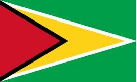 flagga guyana Arkivbild