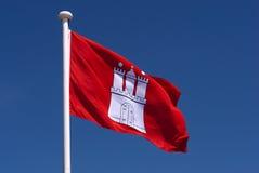 flagga hamburg Fotografering för Bildbyråer