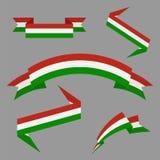 flagga hungary Plan banduppsättning bakgrundsdesignelement fyra vita snowflakes också vektor för coreldrawillustration royaltyfri illustrationer