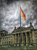 Flagga i Deutscher Bundestag Royaltyfria Bilder