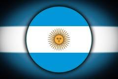 Flagga i formen av en cirkel royaltyfri illustrationer