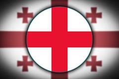 Flagga i formen av en cirkel stock illustrationer
