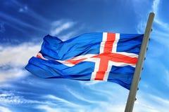 flagga iceland Royaltyfri Bild