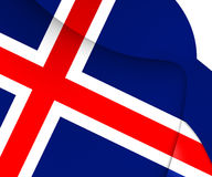 flagga iceland royaltyfri illustrationer