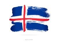 flagga iceland Abstrakt begrepp stock illustrationer