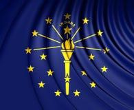 flagga indiana USA royaltyfri illustrationer