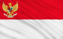 flagga indonesia royaltyfri illustrationer