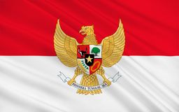 flagga indonesia vektor illustrationer