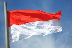 flagga indonesia Royaltyfri Bild