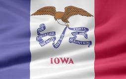flagga iowa stock illustrationer