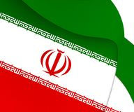 flagga iran stock illustrationer