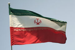 flagga iran s Arkivfoton