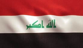 flagga iraq Royaltyfria Bilder