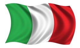 flagga italy royaltyfri illustrationer