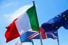 flagga italy Arkivbilder