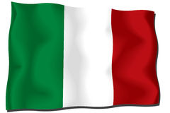 flagga italy stock illustrationer