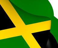 flagga jamaica vektor illustrationer