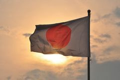 flagga japan Royaltyfri Bild