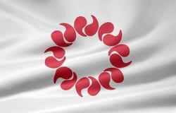 flagga japan saitama Fotografering för Bildbyråer