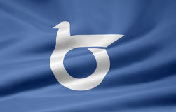 flagga japan tottori Royaltyfri Foto