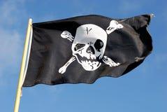 flagga jolly ii piratkopierar roger Royaltyfri Foto