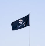 flagga jolly roger Fotografering för Bildbyråer