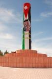 flagga jordan Royaltyfri Fotografi