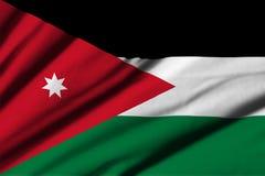 flagga jordan Arkivbild