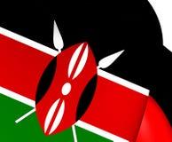 flagga kenya royaltyfri illustrationer
