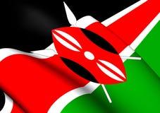 flagga kenya stock illustrationer