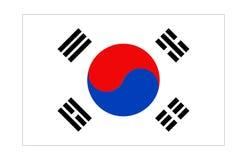 flagga korea Royaltyfri Bild