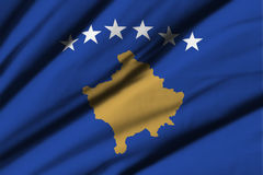 flagga kosovo Arkivfoton