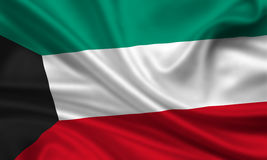 flagga kuwait stock illustrationer