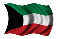 flagga kuwait royaltyfri illustrationer