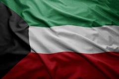 flagga kuwait Royaltyfri Foto