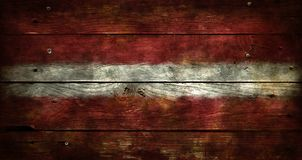 flagga latvia Arkivfoton