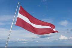 flagga latvia Arkivbilder
