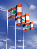 flagga lebanon Royaltyfria Bilder