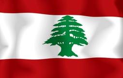 flagga lebanon Royaltyfri Fotografi