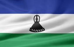 flagga lesotho Royaltyfri Foto