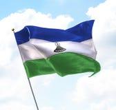 flagga lesotho Royaltyfri Fotografi