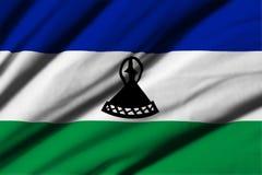 flagga lesotho Royaltyfria Bilder