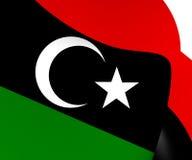 flagga libya royaltyfri illustrationer