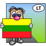 flagga lithuania vektor illustrationer