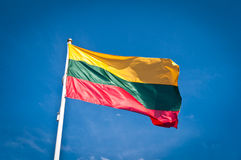 flagga lithuania Royaltyfria Bilder