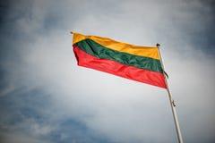 flagga lithuania Arkivbild