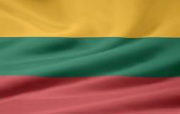 flagga lithuania Royaltyfri Bild