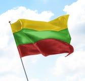 flagga lithuania Royaltyfri Fotografi