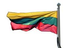 flagga lithuania Fotografering för Bildbyråer