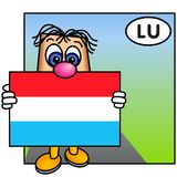flagga luxembourg royaltyfri illustrationer